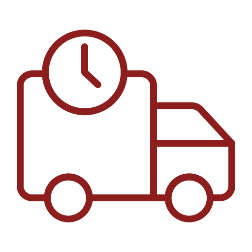 Rød truck - ikon til mødegaranti